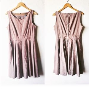 Neutral pleated sleeveless dress new with tag
